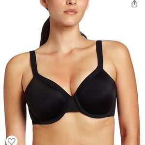 OLGA black underwire disappearing act bra 36D